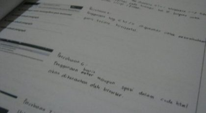 Format Laporan Praktikum Web Development 8