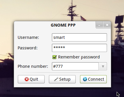 GUI Smartfren Modem Connect