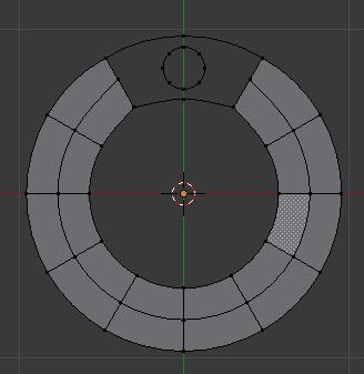 posisi circle kecil