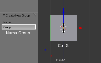 Membuat Group di Blender
