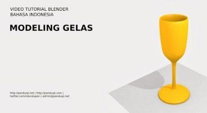 Belajar Membuat Model Gelas di Blender 7