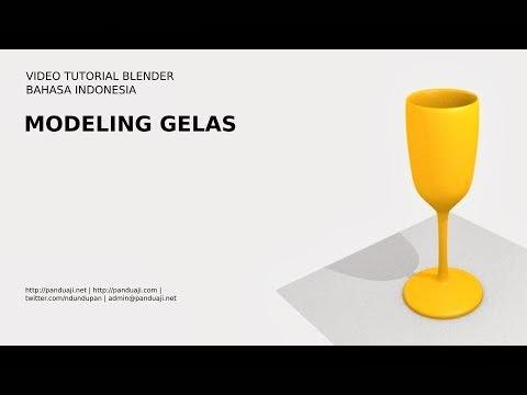Belajar Membuat Model Gelas di Blender 1