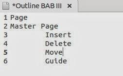 Outline BAB III