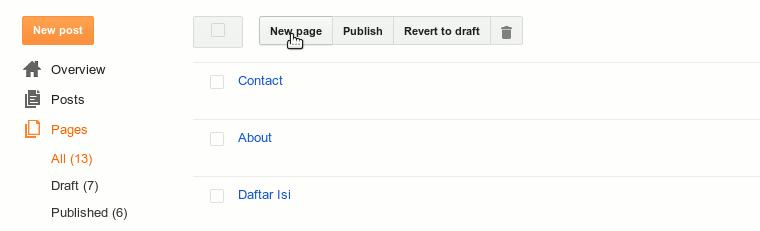 Cara Membuat Daftar Isi di Blog 4