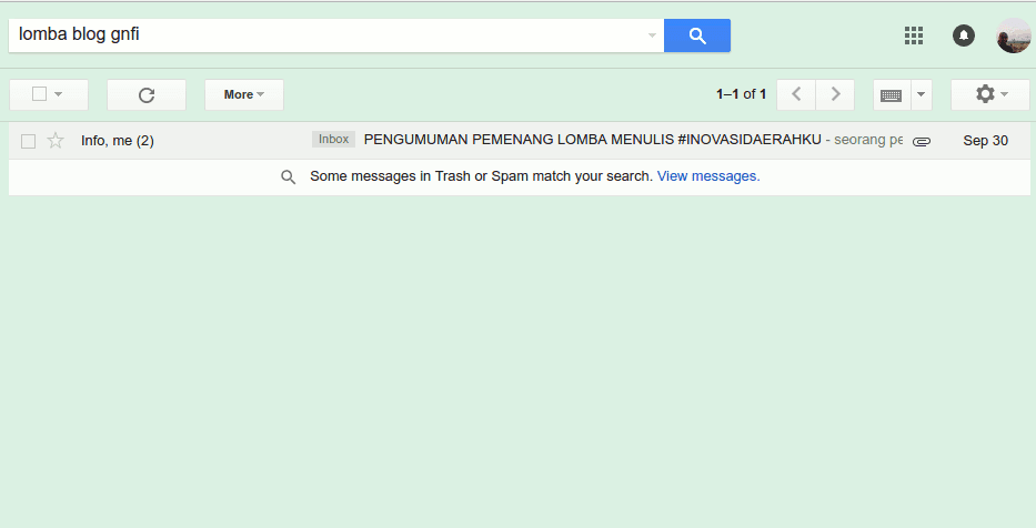 Penulisan Subject Email